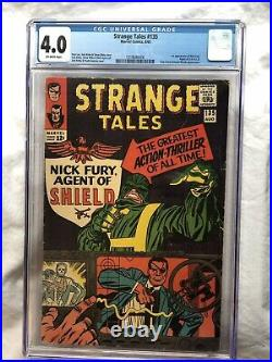 Strange Tales #135 CGC 4.0 1965 OW KEY First Nick Fury Agent of S. H. I. E. L. D
