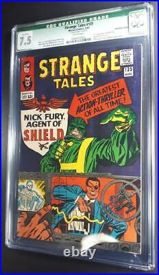 Strange Tales #135 CGC 7.5 Qualified KEY 1st Nick Fury Agent of Shield Marvel Dr