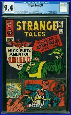Strange Tales #135 CGC 9.4 Marvel 1965 1st Nick Fury! Avengers! L10 234 cm clean