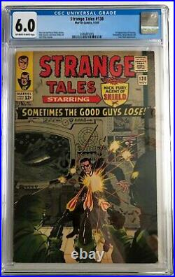 Strange Tales #138 CGC 6.0 (OWithW) First Appearance of Eternity Marvel 1965
