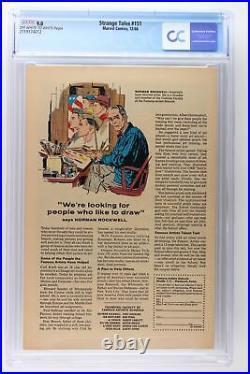 Strange Tales #151 Marvel 1966 CGC 9.0 Jim Steranko's 1st work for Marvel. Dor