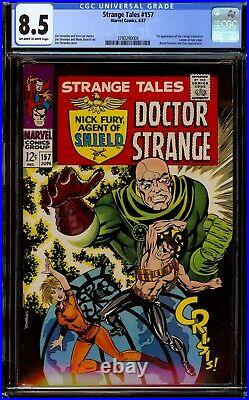 Strange Tales #157. CGC 8.5 VF+. First cameo appearance of Living Tribunal