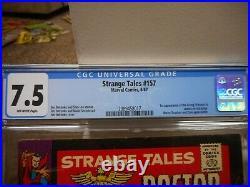 Strange Tales 157 cgc 7.5 1st appearance of the Living Tribunal Marvel 1967 VF