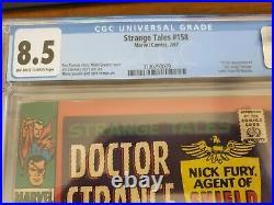 Strange Tales #158 1st Living Tribunal CGC 8.5 VF+