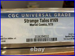 Strange Tales #169 CGC 7.0 White Pages. Origin & First Appearance Brother Voodoo