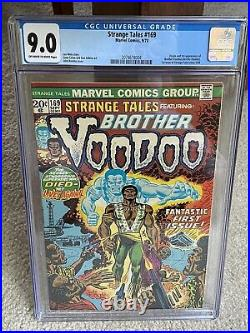 Strange Tales #169 CGC 9.0 OWithWHITE PAGES! 1st appearance BROTHER VOODOO! MCU