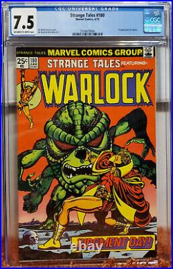 Strange Tales #180 (1975, Marvel) CGC 7.5 VF- 1st App of Gamora OWithW Pages