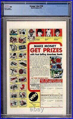 Strange Tales 180 CGC Graded 9.6 NM+ White Pages 1st Gamora Marvel Comics 1975