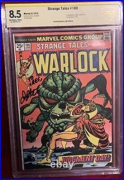 Strange Tales #180 Cbcs 8.5 Signed By Jim Starlin 1st Gamora