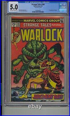 Strange Tales #180 Cgc 5.0 1st Gamora Adam Warlock Htf Htf Mark Jewelers Insert
