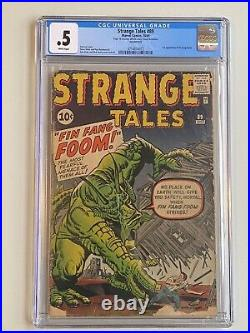Strange Tales 89 1st Appearance Fin Fang Foom CGC. 5 White Pages Silver Age
