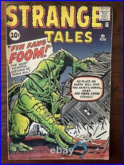 Strange Tales #89, 1st Appearance of FIN FANG FOOM, ITS AT LEAST A 4.5 cgc
