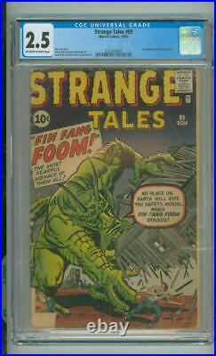 Strange Tales #89 CGC 2.5 1st App Of Fin Fang Foom 1961