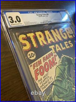 Strange Tales #89 CGC 3.0 1st App Fin Fang Foom 61 MCU Never Pressed Looks Bette