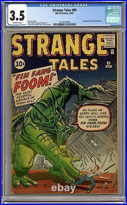 Strange Tales #89 CGC 3.5 1961 3714722004 1st app. Fin Fang Foom