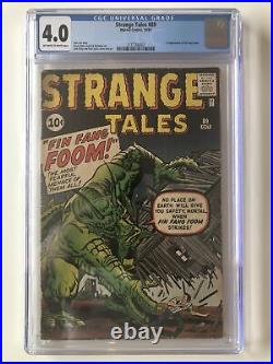 Strange Tales #89 CGC 4.0 1st Appearance Of Fin Fang Foom SHANG-CHI