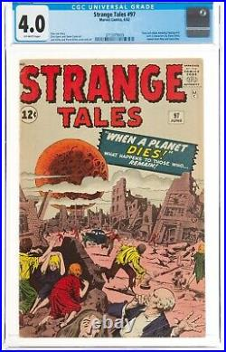 Strange Tales #97 CGC 4.0 Pre-Hero 1st Aunt May, Uncle Ben