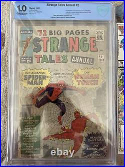 Strange Tales Annual #2 CBCS 1.0, 1st Spider-Man Crossover 4th Appearance Marvel