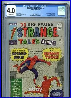 Strange Tales Annual #2 CGC 4.0 OW Pages 1st Spiderman Crossover