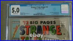 Strange Tales Annual #2 CGC 5.0 4th Spiderman App 1st Crossover 1963
