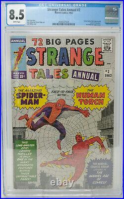 Strange Tales Annual #2 Marvel 1963 Cgc 8.5 1st Spider-man Crossover
