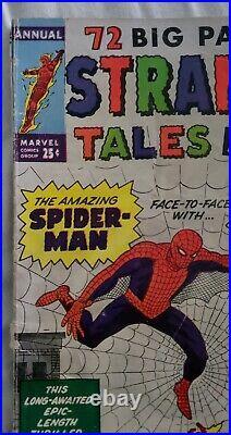 Strange Tales Annual #2 Vg 1963 1st Crossover Jack Kirby Ditko