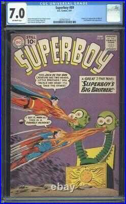 Superboy 89 CGC 7.0 Silver Age Key Marvel Comic 1st Mon-El IGKC L@@K
